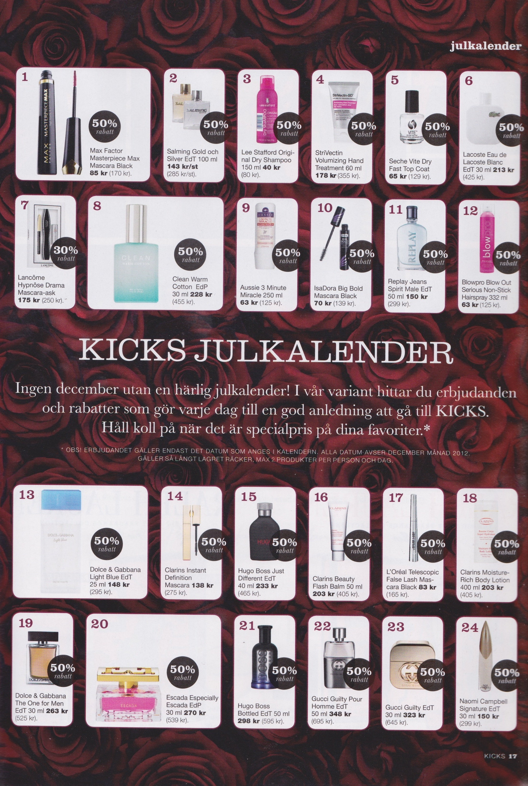 Kicks julkalender pris